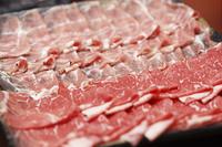 豚肉と牛肉のスライス
