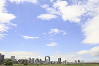 淀川河川敷から見る大阪北区
