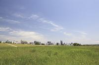 草原と町並