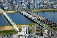 大阪北区と淀川区の町並み
