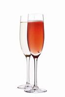 白とロゼのシャンパン