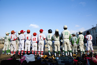 少年野球こども達の後ろ姿