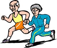 老夫婦ジョギング