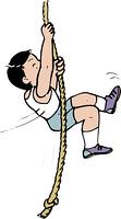 ロープ遊び