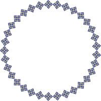 幾何学柄の円形飾り枠