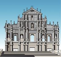 セントポール天主堂跡