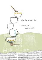 花柄のマグカップ