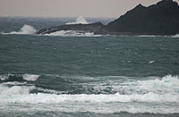 厳寒の江差・日本海