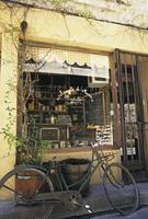 レストランと自転車