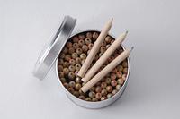 色鉛筆の缶