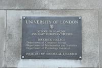 ロンドン大学の銘板
