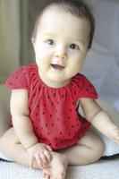 アメリカ人と日本人のハーフの赤ちゃん