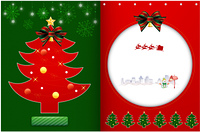 冬のクリスマスのパンフレットカード