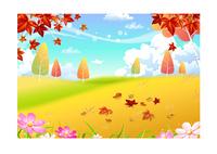 グリーン秋の背景