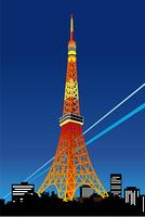 東京の東京タワー夜景