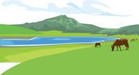 熊本の草千里ヶ浜