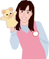 笑顔の女性保育士