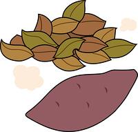 落葉と焼き芋