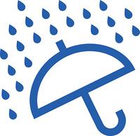 天気予報の大雨のお天気マーク