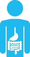 人体と胃腸のピクトグラム
