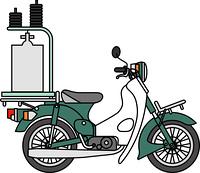 出前用バイク
