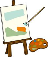 油絵を描く