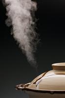 土鍋と湯気