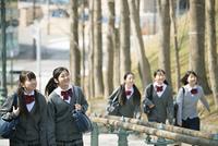 中学生の通学風景