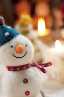雪だるまとクリスマスグッズ