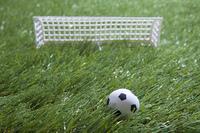 芝生とサッカーのイメージ