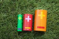 芝生と電池