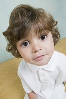 Close up of Hispanic boy