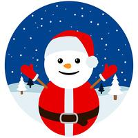 雪だるま サンタクロース