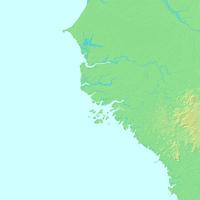 ビサウ,ギニアビサウ,世界地図