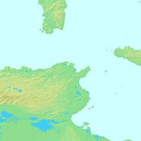 チュニス,チュニジア,世界地図