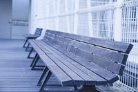 屋上のベンチ