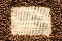 コーヒー豆で作ったフレーム