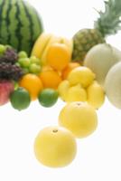 グレープフルーツとフルーツの集合