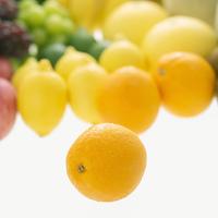 オレンジとフルーツの集合