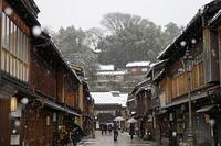 金沢 雪のひがし茶屋街