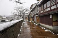 雪の茶屋街 主計町