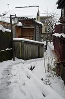 雪の暗がり坂