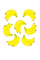 黄色いバナナのイラスト