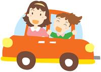 ドライブする母と娘