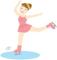 フィギュアスケートを滑る少女