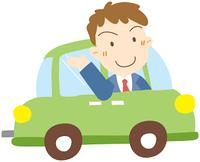 車に乗るビジネスマン