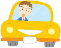 自動車に乗るビジネスマン