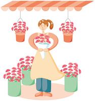 花屋の女性