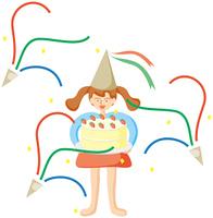 誕生日の少女