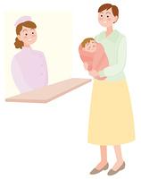 看護師と母子